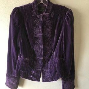 bcbg max azria velvet blazer jacket
